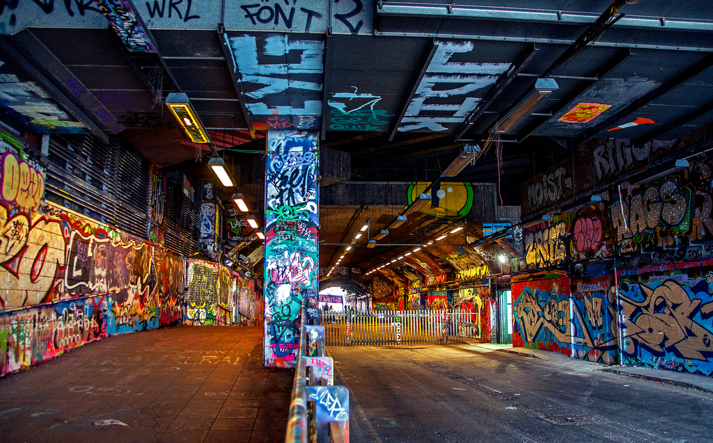 photo shoot locations uk Leake Street Arches