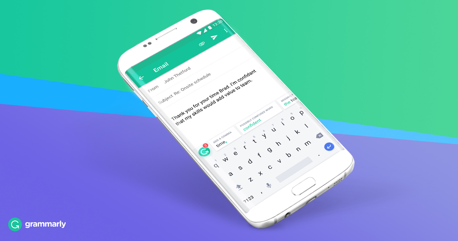 Grammarly writing app 2019