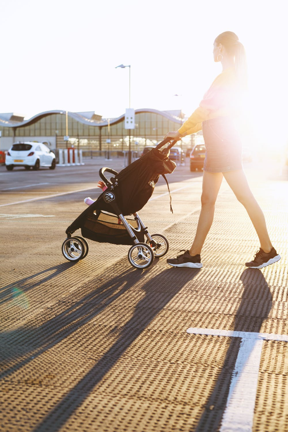 Mother and push chair. Freelance Parents