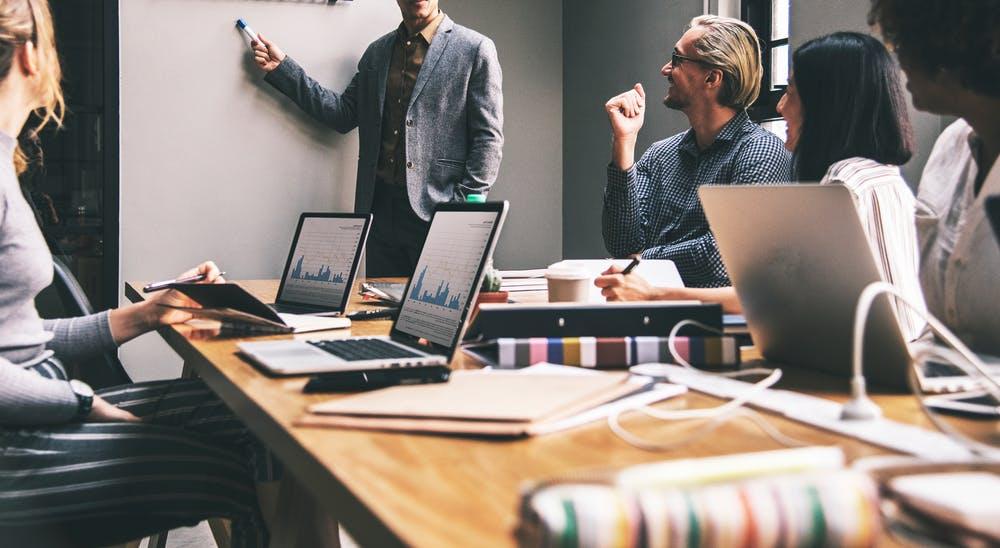 Freelancers working together