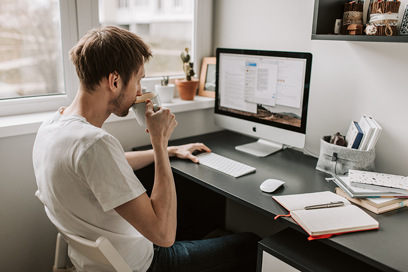 man working from home. their digital transformation, work remotely, freelancer recruitment strategy, hiring strategy, hiring freelancers, freelancer recruitment process