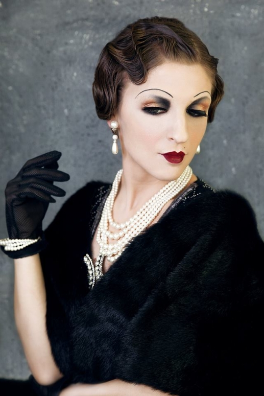 """40 Beautiful Makeup Room Decoration In Your Small Space: 1940's """"Gatsby"""" Makeup, Style And Hair By Me. Model: Ivona"""
