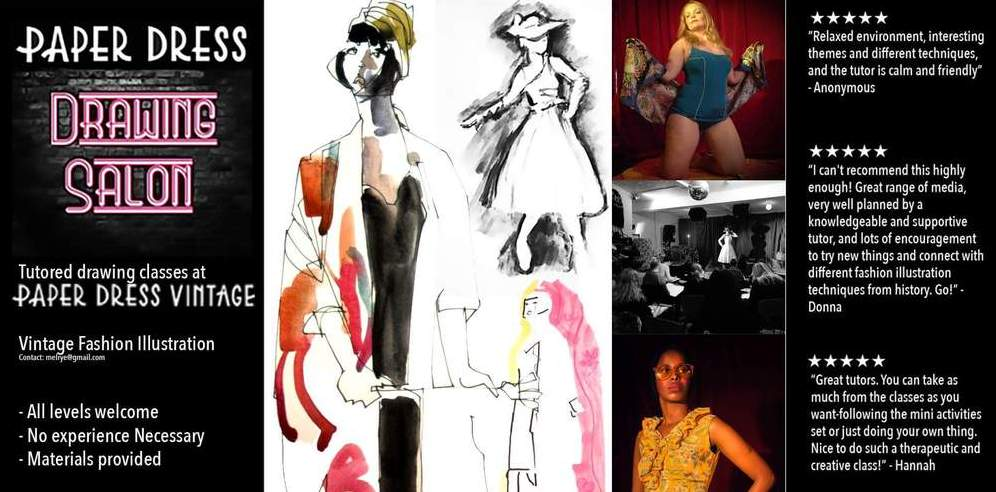 Vintage Fashion Illustration - Upgrade to Pro for £10 tickets