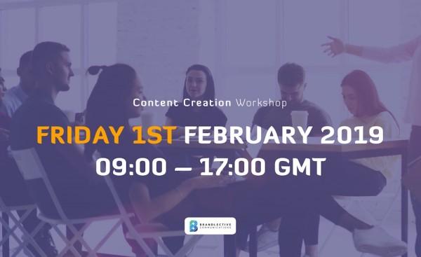 20% OFF : Content Creation Kickstarter 1-Day Workshop 1 Feb